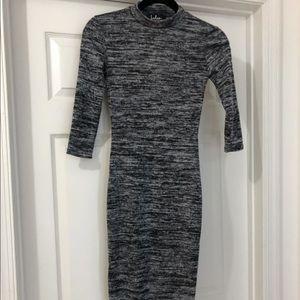 Lulu's Grey Long Sleeve Dress XS
